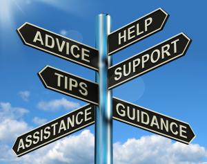 SIGN -HELP TIPS ADVICE, ETC